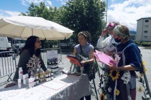 La BIP sur le marché de producteurs organisé par Mont'Bio à Montmélian